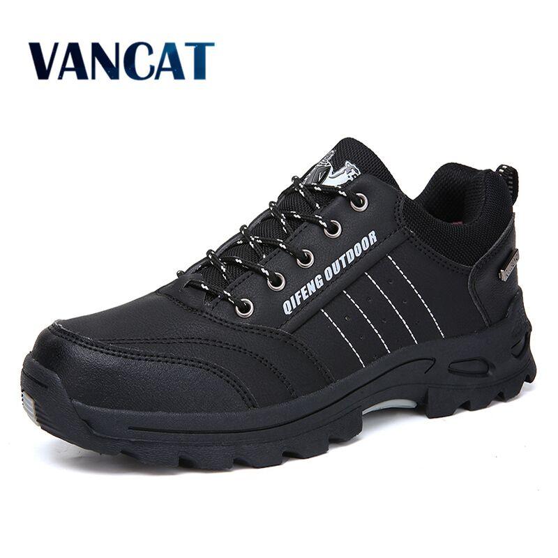 Vancat New Men Boots Autumn Winter Mens Warm Plush Snow Boots Man Casual Fashion Shoes Outdoor Mountain Men Sneakers Size 36-47