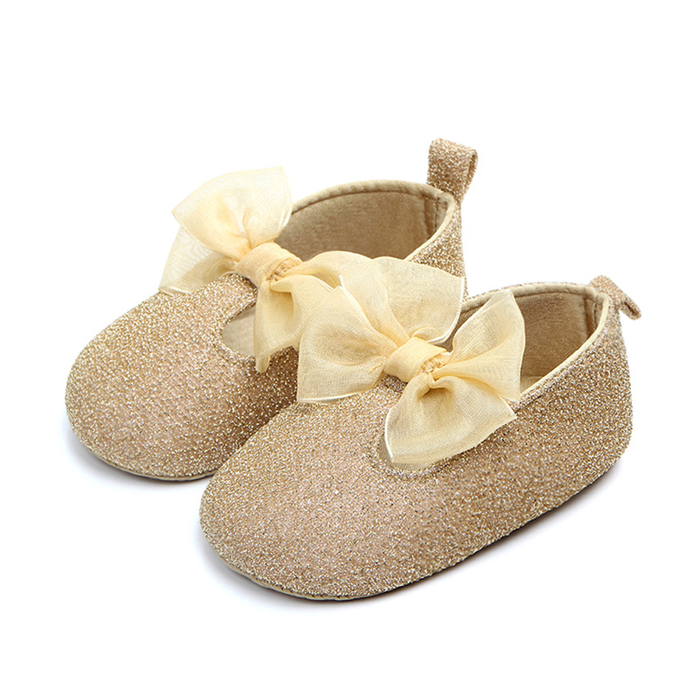Baby Girl Bowknot Shoes Princess Sneaker Anti-slip Soft Sole