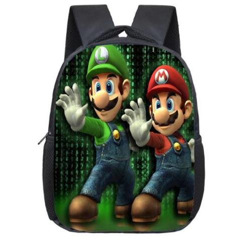 12inch Hot Sale Children Printing Bag Cartoon Super Mario Backpack For Kids School Boys Girls Teenagers