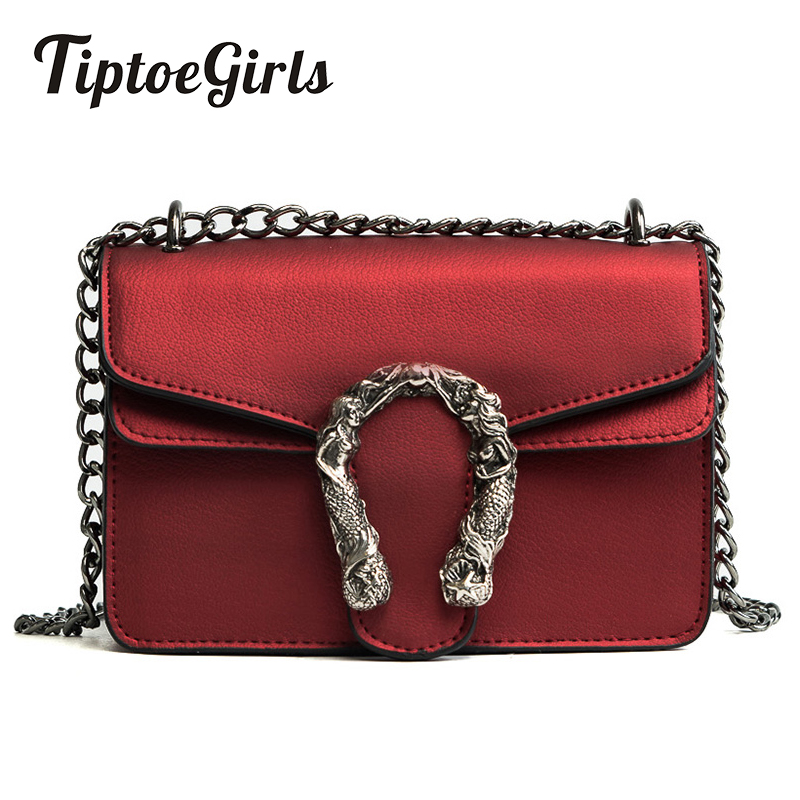 Tiptoegirls Brand Chains Bag Personalized Shoulder Bag Fashion Women Bags Candlelight Leather Small Bags Diagonal Lady Handbags