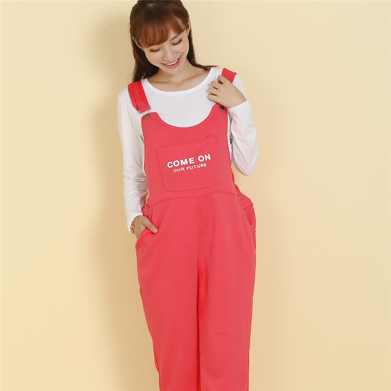 Come On! Maternity Spring Autumn Plus Size Pants Zipper Bib Belly Pregnant Pants For Pregnancy Women Trousers Overalls Jumpsuit