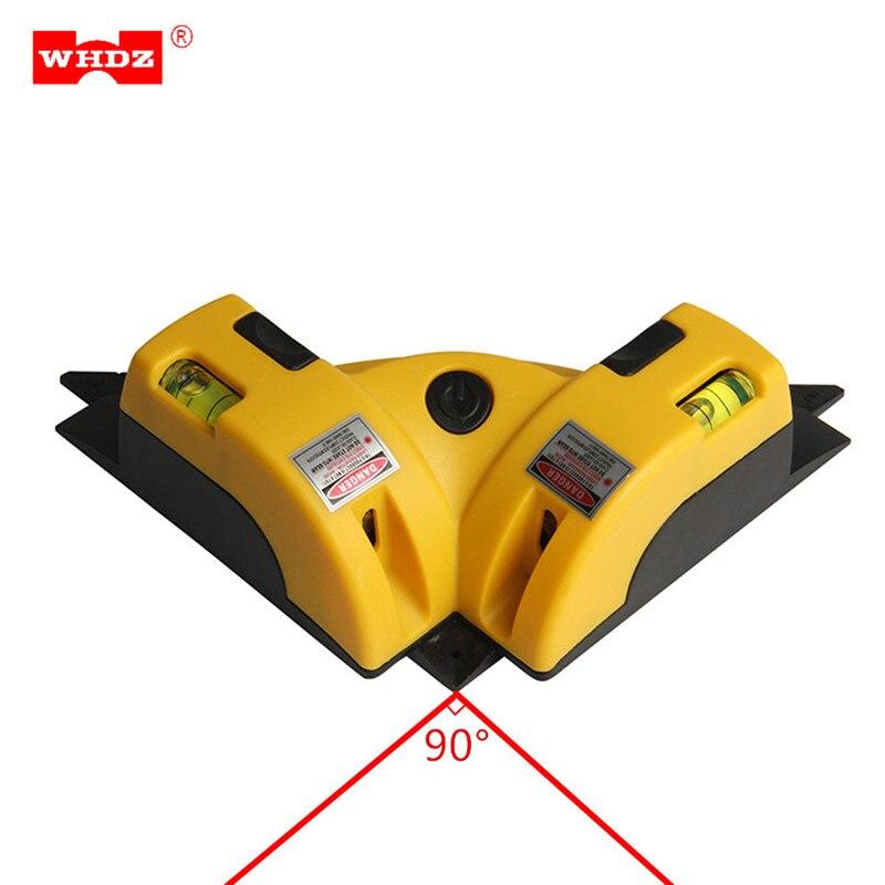 WHDZ Nivel A Laser Níveis 90 Graus Nivelador Marcador De Construção Ferramentas Linhas de Classe II Lazer Feixe Horizontal e Vertical Da Bolha Frasco