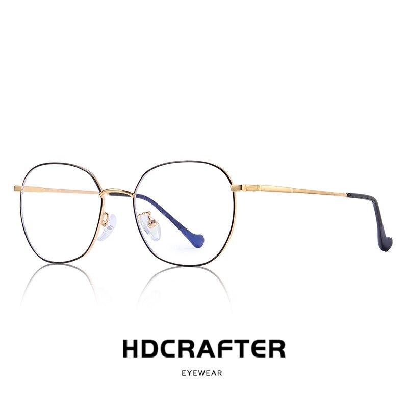 Gold Clear Lens Circle Glasses vintage retro spectacle frames nerd glasses small round myopia female optical glasses frame men