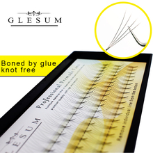 Lashes Glesum 12 Lines Individual Cluster Eyelash Extension Pre Made Volume Fans Faux Mink Professional