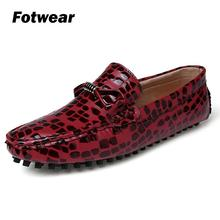 Men leather fashion loafer A charming great everyday casual shoes with eye-catching crocodile print upper