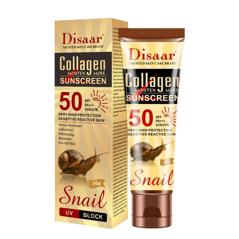 Collagen Snail Sunscreen SPF50++ Face Body Whitening Skin Care Sun Cream Oil-Control Moisturizing Sun Screen