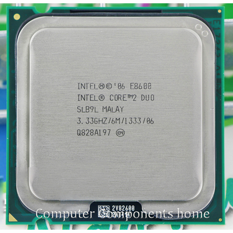 Original intel core 2 duo E8600 Socket LGA 775 Processor CPU (3.33Ghz/ 6M /1333GHz) suitable with G31 G41 motherboard motherboard lga 775 lga775 cpu bga replacement repair socket with solder tin ball
