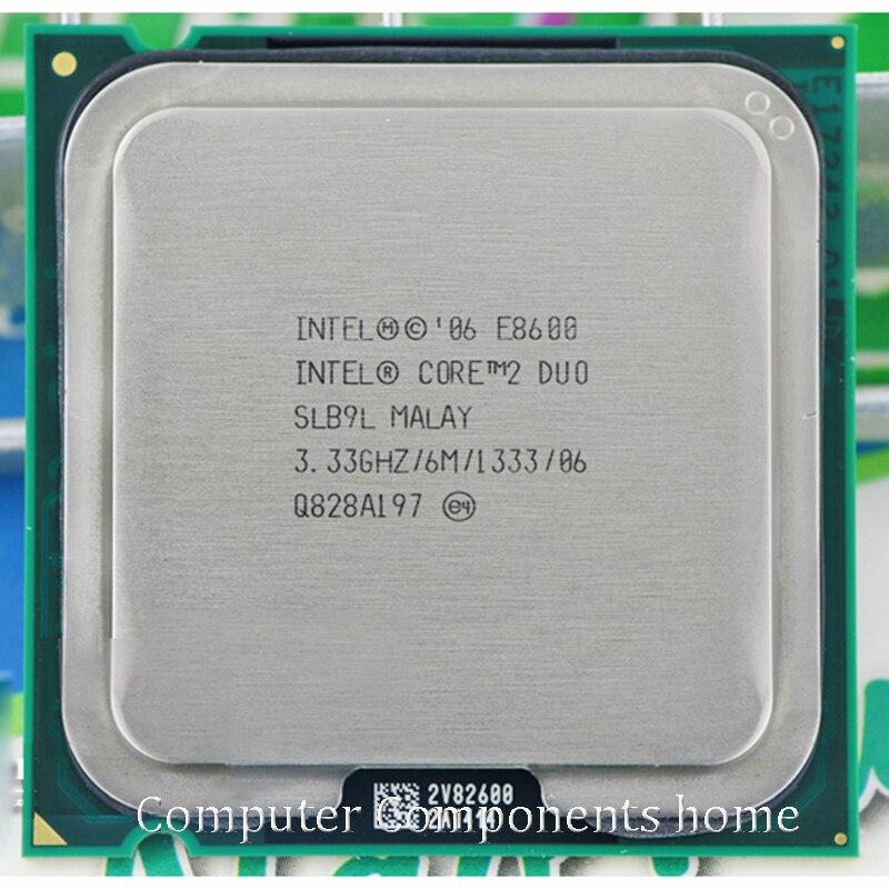 Original intel core 2 duo E8600 Socket LGA 775 CPU Processador (3.33 Ghz/6 M/1333 GHz) adequado com G31 G41 motherboard