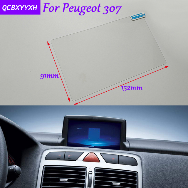Car Styling 7 Inch GPS Navigation Screen Glass Protective Film ...
