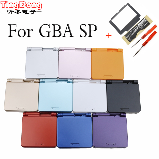 Ting Dong For Nintend GBA SP For Gameboy Housing Case Cover Replacement Full Shell For Advance SP