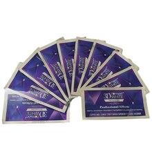 NO BOXESs Crest 3D Blanco LUXE viajes dental dientes higiene bucal blanqueamiento dental Profesional blanco 10 Bolsas/20 de la raya