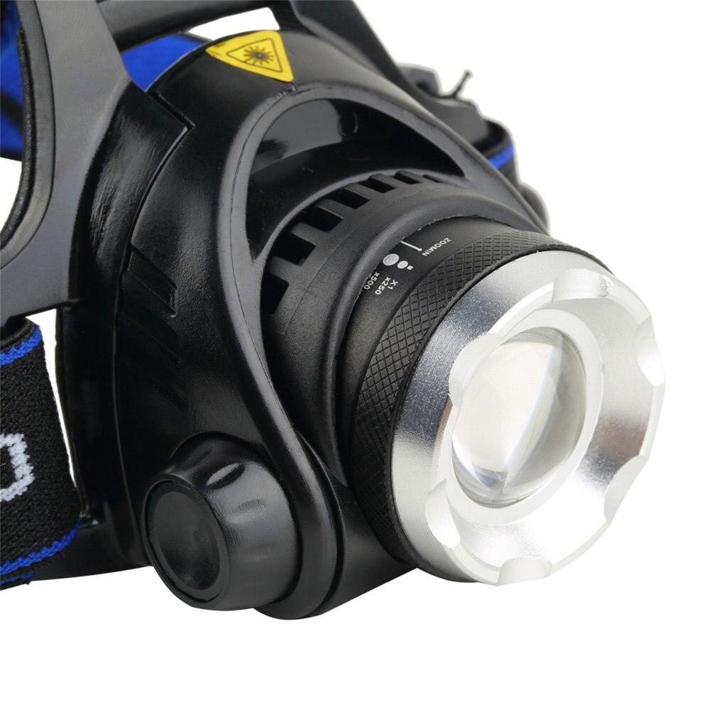 Aluminium 2000 Lumen XM-L T6 LED Perlen 18650 Zoombare Zoom Heraus Scheinwerfer Scheinwerfer Nacht Fackel für Camping