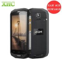AGM A8 64 GB Teléfono 4050 mAh IP68 Impermeable Teléfono Móvil RAM 4 GB 5.0 pulgadas Android 7.0 Smartphone 4G LTE MSM8916 Quad núcleo