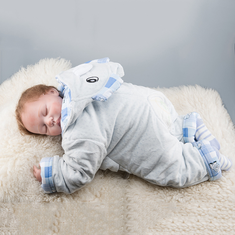24inch Realistic Reborn Babies Full Silicone Lifelike Baby Dolls With Closed Eyes Kids Sleeping Toys Doll