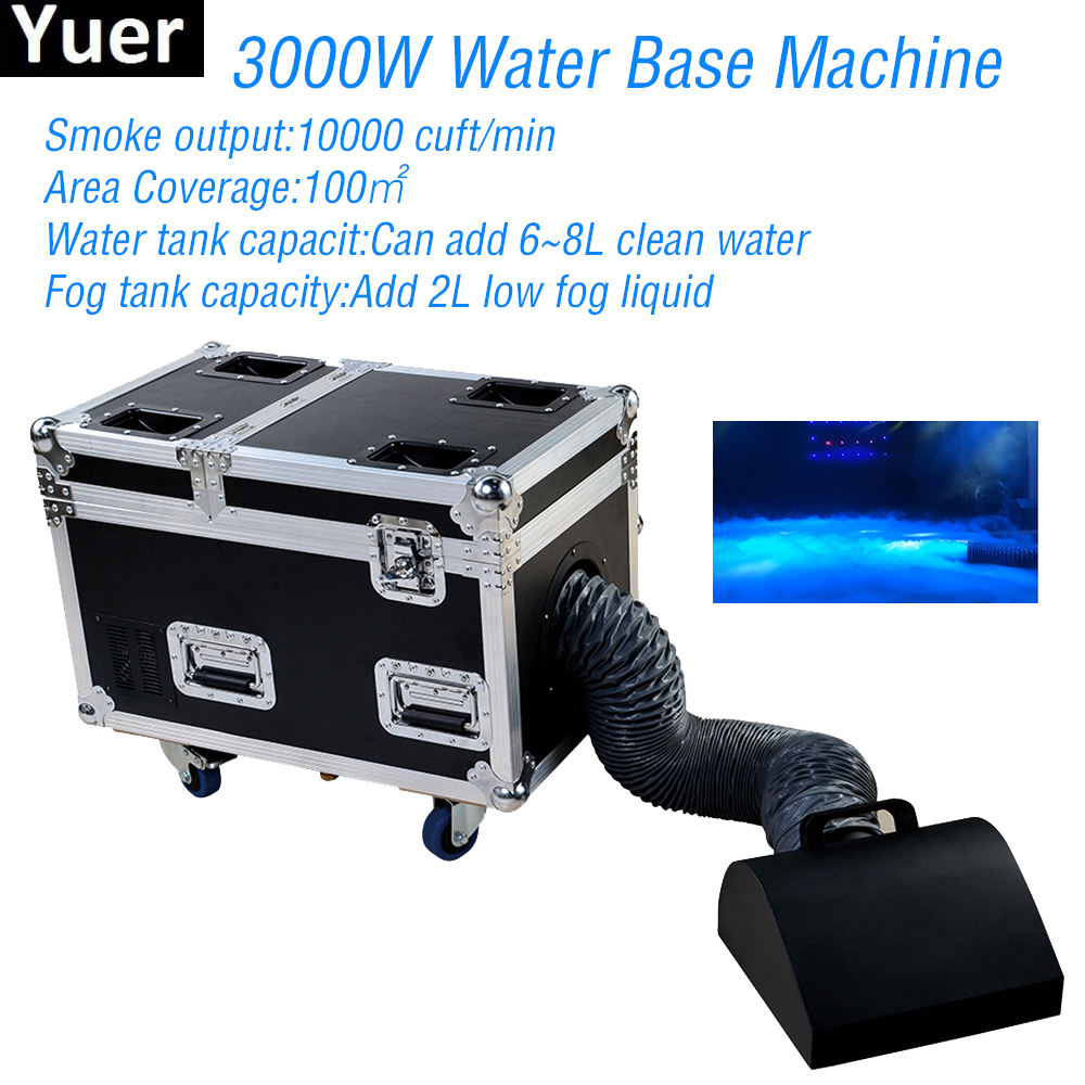 3000W Water Base Fog Machine Dry Ice Effect Haze Machine Wedding Stage DJ Disco Equipment Party Stage Effect Light Machine