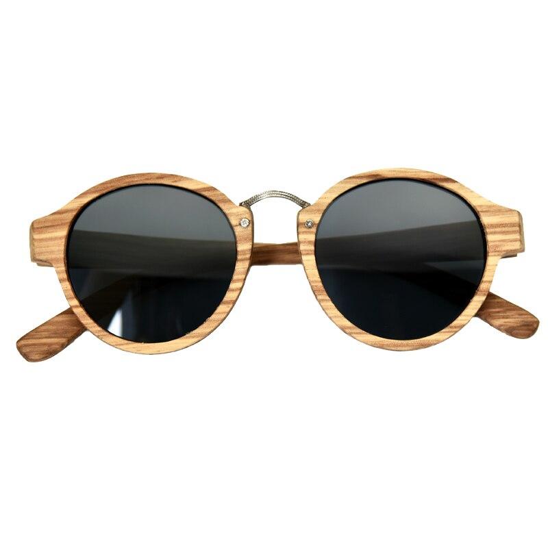 2017 Zebra Wood Sunglasses Retro Round Glasses