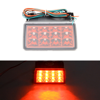 For Subaru STI XV Red Lens LED Rear Strobe Flasher Brake Lights Lamp F1 Style 4th Brake/Tail Light Rear Fog Light