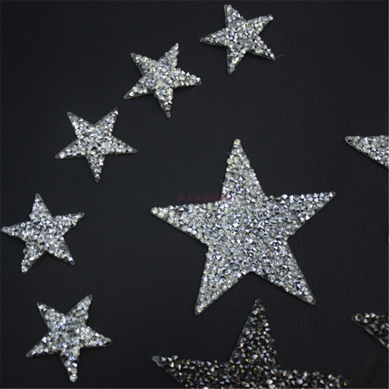 Detail Feedback Questions about Sparkling Rhinestone Five pointed Star  Pattern Clothes Patches Fashion Sequined Shoes hats bags Appliques Bling  Iron on ... 2570755fb8bc