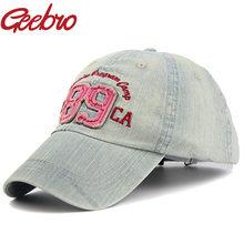 Geebro carta 89 SnapBack gorra de béisbol vintage Denim casual rodeo  sombrero Bordado del deporte del SnapBack gorras para hombr. e2bd565a72f