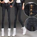 Высокая талия джинсы для женщин эластичные тонкие узкие брюки карандаш брюки Бесплатная доставка