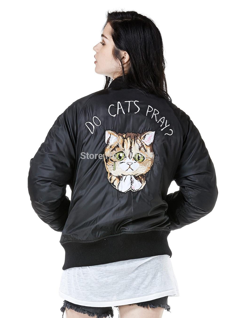 Aliexpress.com : Buy Women Bomber Parkas Jacket Harajuku Unif CATS