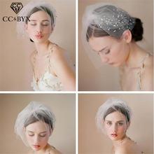 Cc Ювелирные вуали головные уборы короткая Тиара для невесты