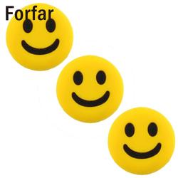 Forfar cute mini 3pcs silicone rubber smile smiling face shock vibration dampener absorber for tennis racket.jpg 250x250