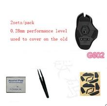 2 set/pack 100% Original genuino línea juegos mouseskate 0,28mm de teflón nivel de rendimiento ratón pies alfombrilla para Logitech G602