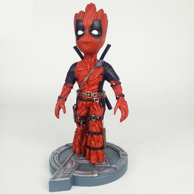 Marvel Avengers Galaxy Guard Groot Change to X-Men Deadpool Action Figure Toy Spuer Hero Action Figure Modle Doll For Gifts цена