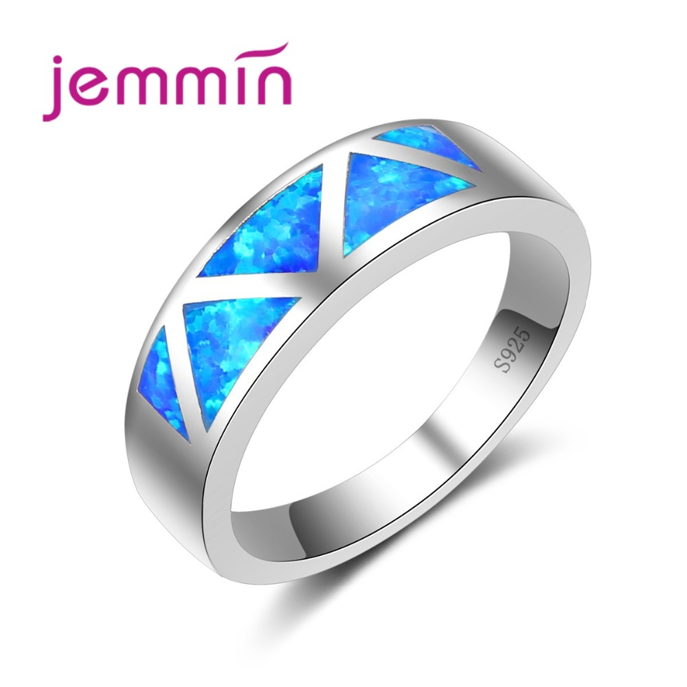 Jemmin Unisex Rings For Women Men Simple Geometric Pattern S925 Sterling Silver Weding Engagement Bands Finger Ring For Girls