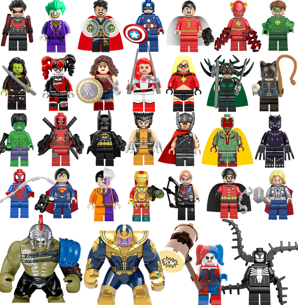 legoing Super Heroes Avengers Wonder Woman Batman Captain Deadpool X man Logan flash DC Marvel Building Blocks Toys Figures legoelied star wars super heros marvel dc minifigures darth revan yoda deadpool batman v superman figures building blocks toys
