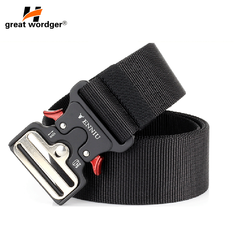 Mens Tactical Belt Military Nylon Belt Outdoor multifunctional Training Belt Quick Release Heavy Combat Duty Sturdy Waistband