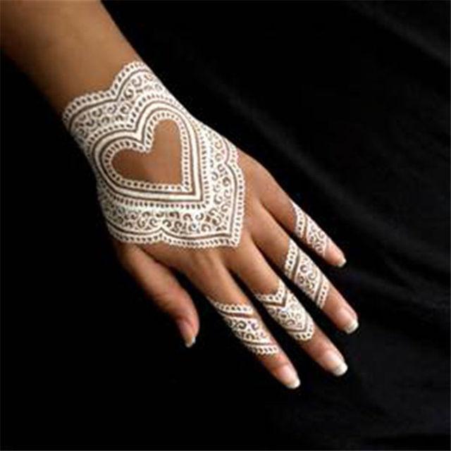 1pcs Body Painting Art Akvagrim Henna Tattoo Tool White Henna Cone