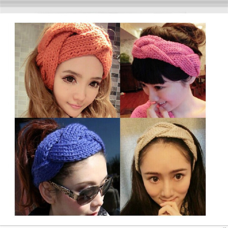 Bigsweety Fashion Winter Warm Knitted Hats Women Hair Band Crochet Twist Knit Headwrap   Skullies     Beanies   Female
