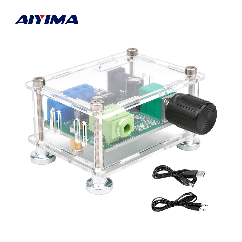 AIYIMA USB 5V Portable Audio Power Stereo <font><b>Amplifiers</b></font> <font><b>2x3W</b></font> Headphones Amp AUX 3.5mm Amplificador With Case DIY For Home Theater image