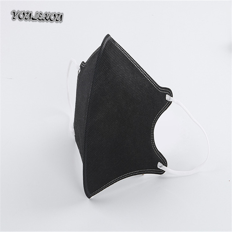 Bekleidung Zubehör 20 Teile/paket Dicken Schwarzen Vierdimensionalen Non-woven Einweg Schutzmasken Masken Mode Maske Damen-accessoires