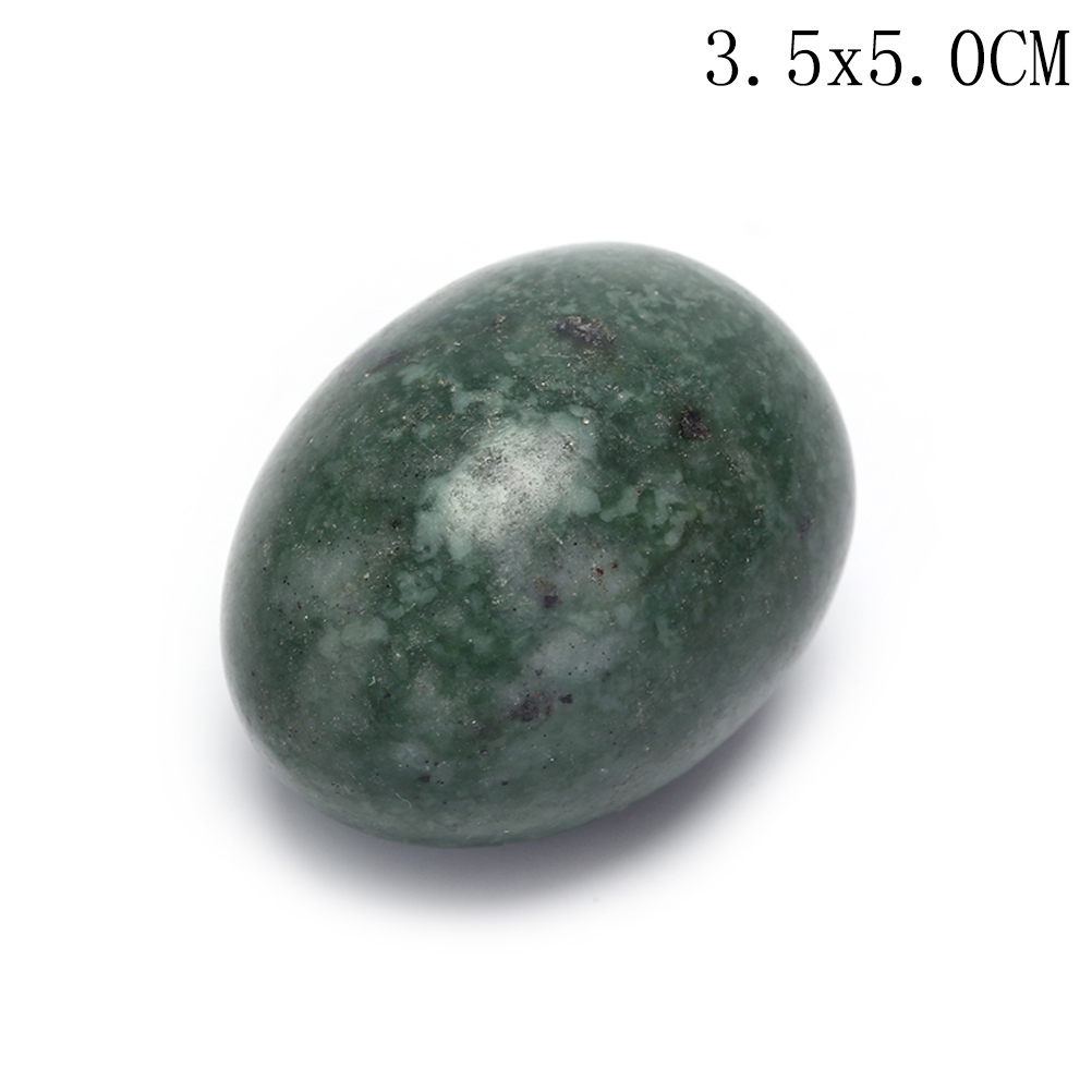 Quartz Yoni Egg Crystal Sphere Natural Rose Drilled Jade Egg For Kegel Exercise Pelvic Floor Muscle Vaginal Exercise Ben Wa Ball