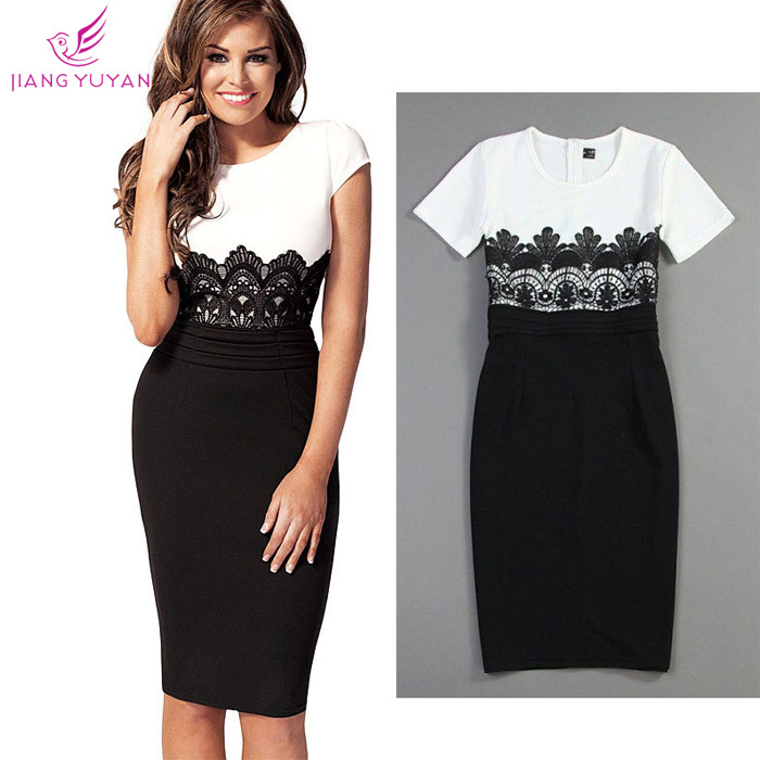 Vestidos Fashion Casual Dress Women Office Ladies Sheath White Black