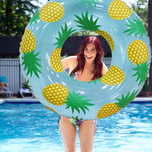 Pineapple Print Tube 105CM Giant Women Swimming Ring Inflatable Pool Float Outdoor Summer Water Party Toys Air Mattress boia
