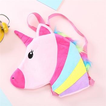 Colorful Plush Unicorn Kid Backpack