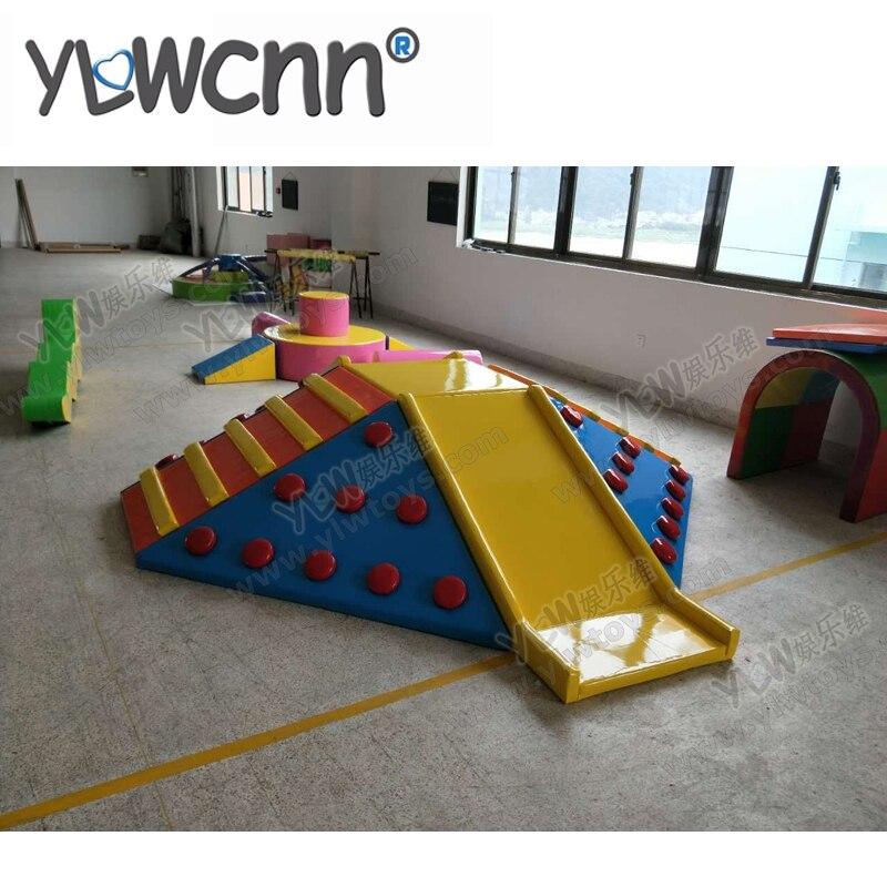 Enfants jeu doux ensemble enfants éducation logiciel aire de jeux intérieure jouets combinaison escalade toboggan INA171087