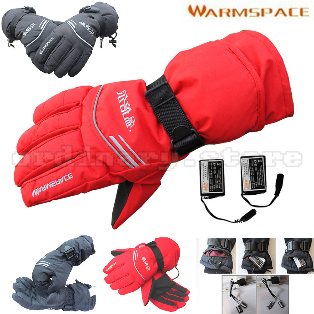 2000mAh Rechargeable Battery Bicycle Cycling Motorcycle Outdoor Work Electric Heated Hands Winter Warmer Ski Windproof Gloves 1 pair 4000mah rechargeable battery with smart switch on off electric heated warm glove winter outdoor work ski warmer gloves