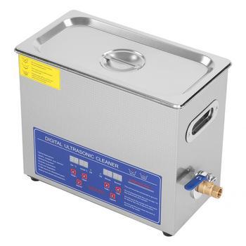Calentador limpiador ultrasónico caliente industrial de acero inoxidable 6L 180W con temporizador nettoyeur Ultrason ultrasónico envío rápido