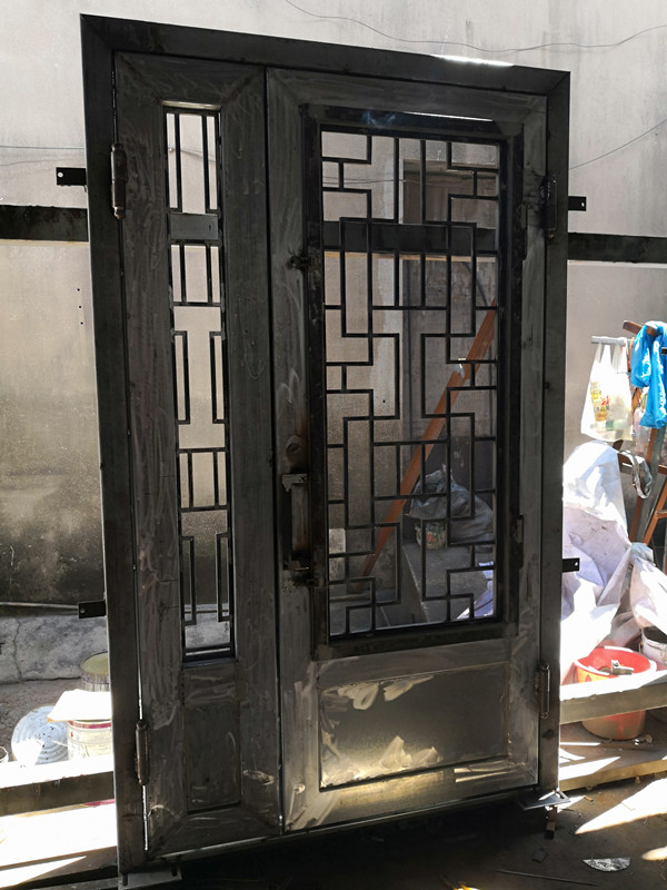 Metal Entry Doors With Glass Iron Entrance Door Design
