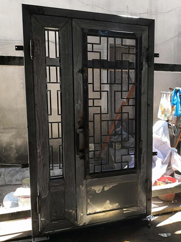 Metal Entry Doors With Glass Iron Entrance Door Design