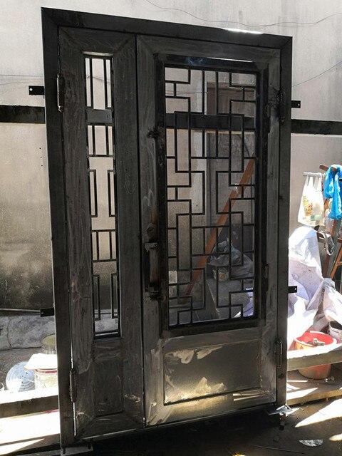 Metal Entry Doors With Gl Iron Entrance Door Design