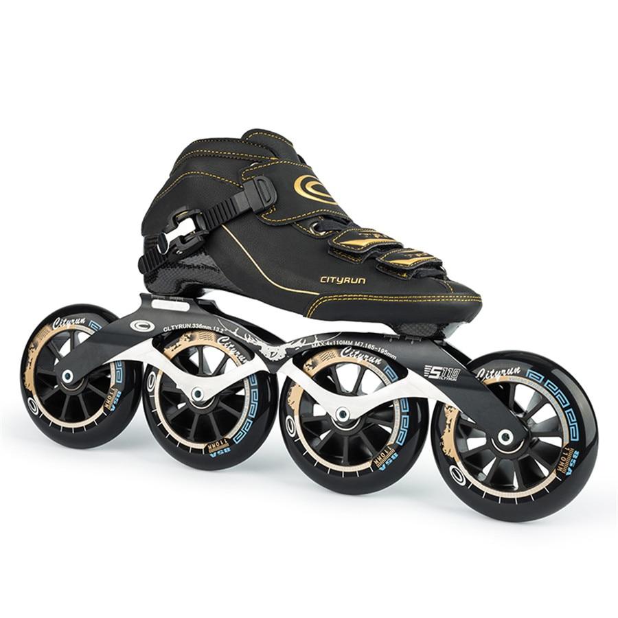 Cityrun Speed Inline Skates Carbon Fiber Professional Competition Skates 4 Wheels Racing Skating Patines Similar Powerslide