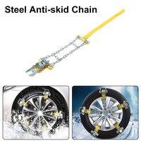 3pcs Manganese Steel Car Tire Anti Skid Chain Emergency Tire Anti Skid Belt For Snow Road