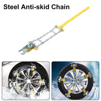 3pcs Manganese Steel Car Tire Anti Skid Chain Emergency Tire Anti Skid Belt For Snow Road