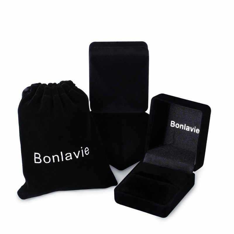 BONLAVIE 100% 純粋な 925 スターリングシルバー男性のモルガナイトアンティークスクエアナノロシアエメラルドリングファインジュエリーギフト